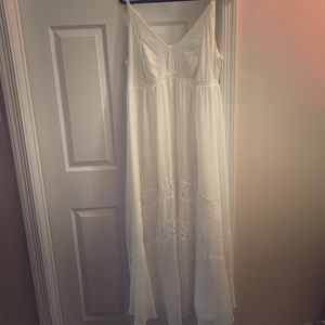 Torrid White Lace Maxi Dress